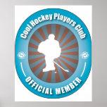 Club fresco de los jugadores de hockey poster