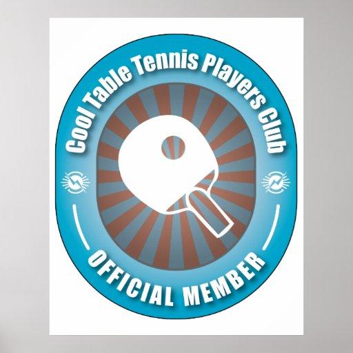 Club fresco de los jugadores de tenis de mesa impresiones