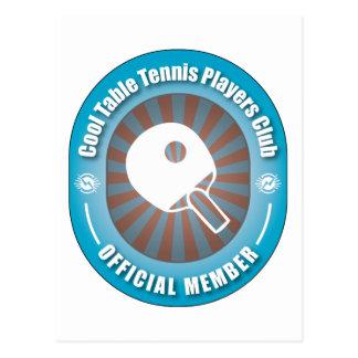 Club fresco de los jugadores de tenis de mesa postales