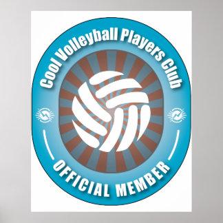 Club fresco de los jugadores de voleibol posters