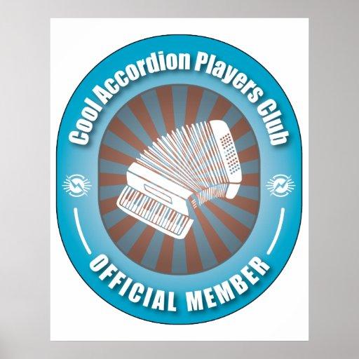 Club fresco de los jugadores del acordeón póster