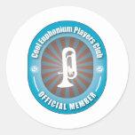 Club fresco de los jugadores del Euphonium Pegatina Redonda