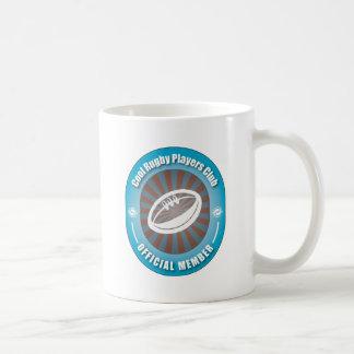 Club fresco de los jugadores del rugbi taza de café