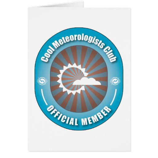 Club fresco de los meteorólogos tarjeton