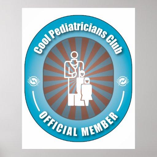 Club fresco de los pediatras póster