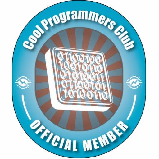 Club fresco de los programadores adorno fotoescultura