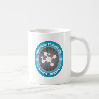 Club fresco de los químicos del polímero taza de café