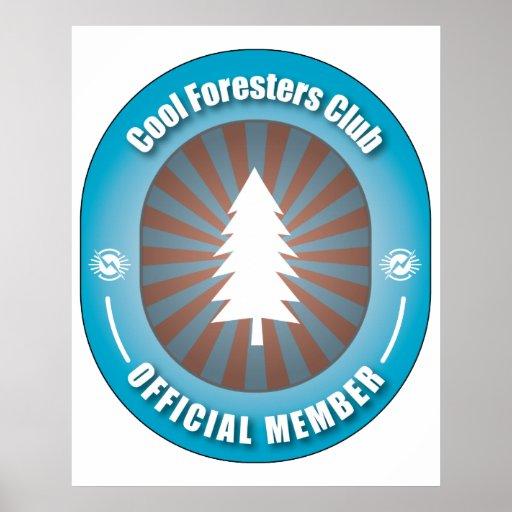 Club fresco de los silvicultores póster