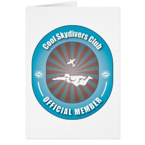 Club fresco de los Skydivers Tarjeta