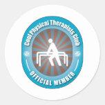 Club fresco de los terapeutas físicos pegatinas redondas