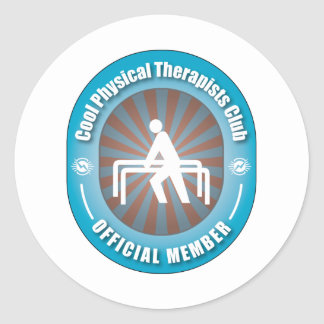 Club fresco de los terapeutas físicos pegatina redonda
