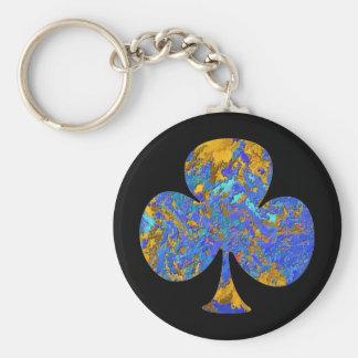 Club House - Poker Fan 3 Basic Round Button Keychain