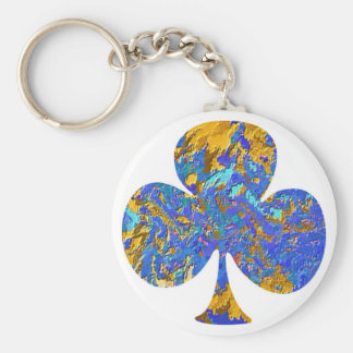 Club House - Poker Fan Basic Round Button Keychain