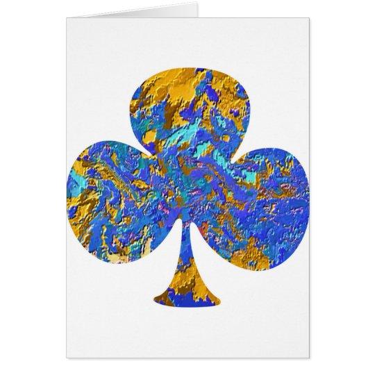 Club House - Poker Fan Card