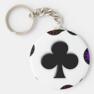 Club Basic Round Button Keychain