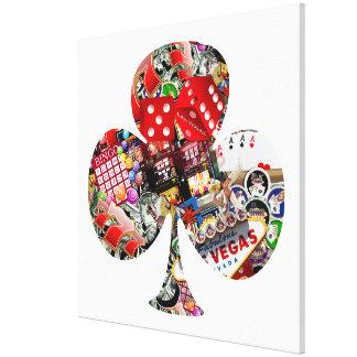 Club - Las Vegas Playing Card Shape Canvas Print