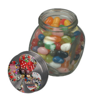 Club - Las Vegas Playing Card Shape Glass Jars