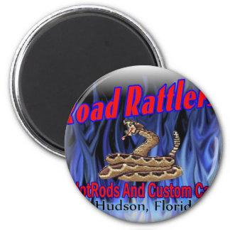 club logo3 de los rattlers del camino imán redondo 5 cm