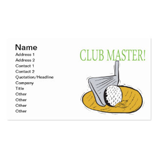 Club Master Business Card Template