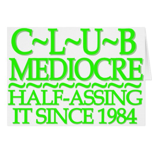 Club Mediocre Lime Cards