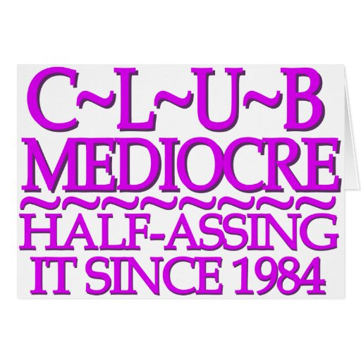 Club Mediocre Purple Card