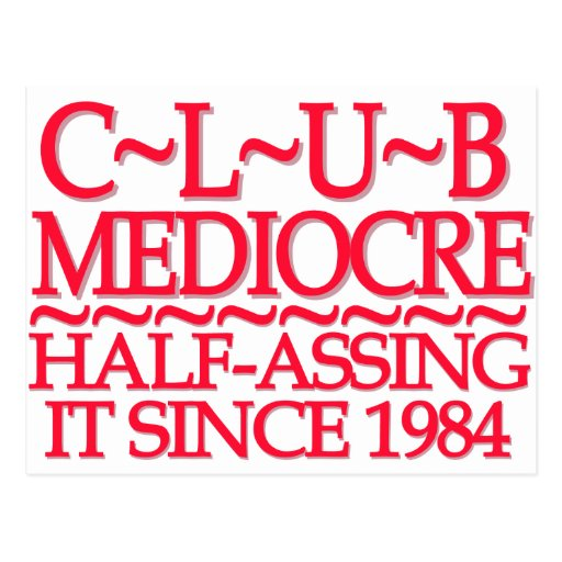 Club Mediocre Red Post Cards