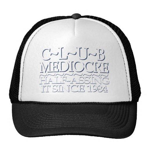 Club Mediocre White Mesh Hat