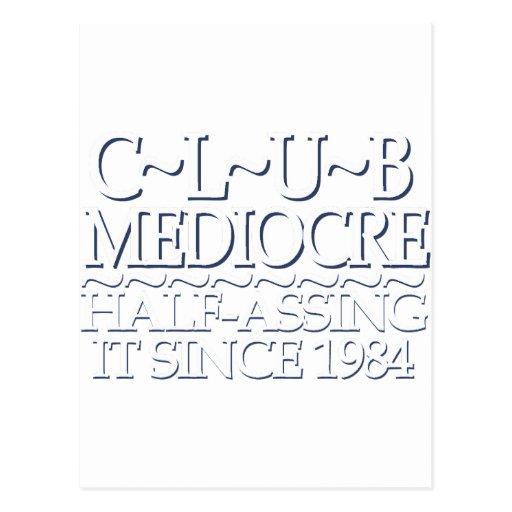 Club Mediocre White Postcard