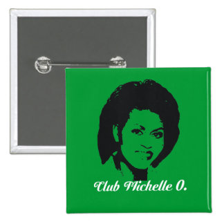 Club Michelle O. Button, verde de Kelly Pin