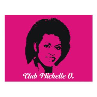Club Michelle O Postcards, Hot Pink Postcard