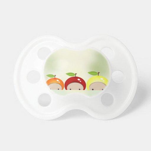 Club minúsculo de la fruta de Chibi del bebé Chupetes Para Bebes