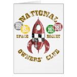 Club nacional de los dueños de Rocket de espacio Tarjeta