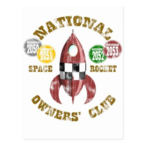 Club nacional de los dueños de Rocket de espacio Postal