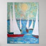 Club náutico de Dar es Salaam, navegando el poster