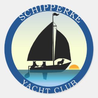Club náutico del Schipperke Pegatina Redonda