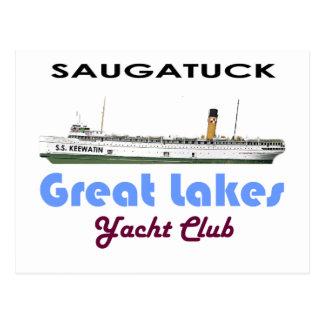 Club náutico Great Lakes de Saugatuck Douglas Tarjeta Postal