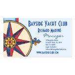 Club náutico, navegando al club, puerto deportivo, plantilla de tarjeta de visita