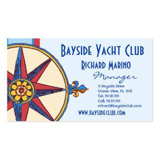 Club náutico, navegando al club, puerto deportivo, tarjetas de visita