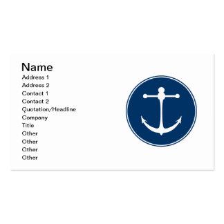 Club náutico rojo tarjetas de visita