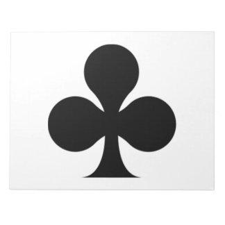 Club negro blocs de papel