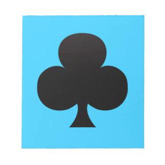 Club negro - juego de tarjetas de juego blocs
