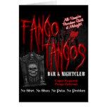 Club nocturno del vampiro de los tangos de Fango Tarjeta De Felicitación