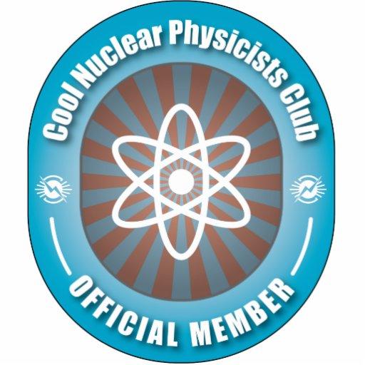 Club nuclear fresco de los físicos escultura fotográfica