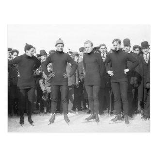 Club patinador de Saratoga, 1900s tempranos Postal