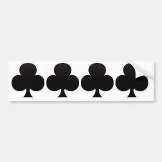 Club Poker Icon Bumper Sticker