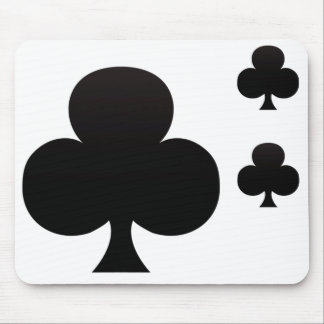 Club Poker Icon Mouse Pad