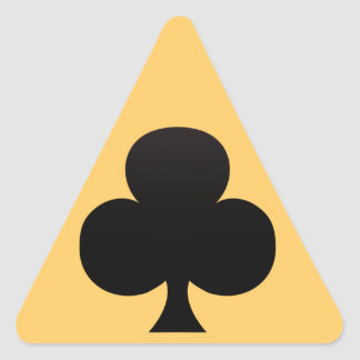 Club Poker Icon Triangle Sticker