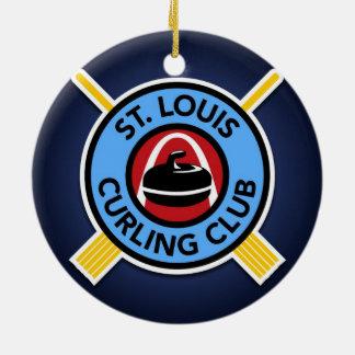 Club que se encrespa de St. Louis Adorno Redondo De Cerámica