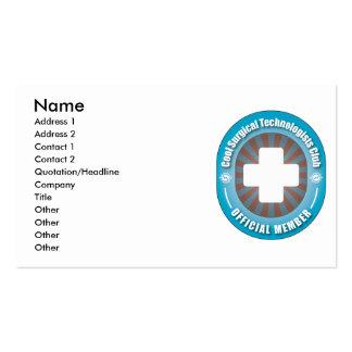 Club quirúrgico fresco de los tecnólogos tarjetas de visita