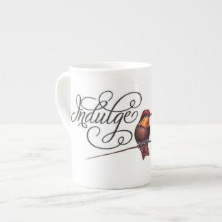 Club Red 'Indulge' Bone China Mug Tea Cup